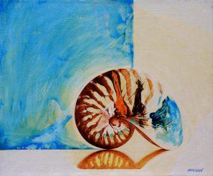 Pavle Hegeduš. Borges' tiger and/or Malevich's spiral, oil on canvas, 60 x 50 cm, 2013 / Pavle Hegeduš. Borgesov tigar i/ili Maljevičeva spirala, ulje na platnu, 60 x 50 cm, 2013.
